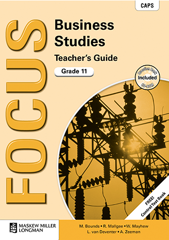 Focus Business Studies Grade 11 Teacher's Guide (CAPS)