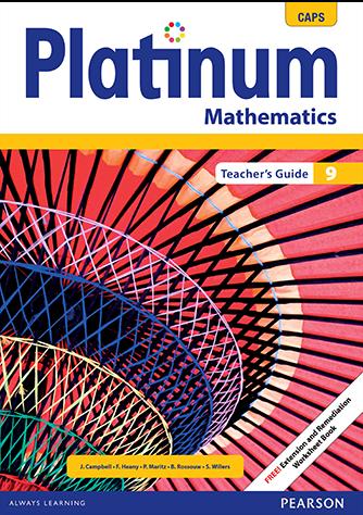 Platinum Mathematics Grade 9 Teacher's Guide (CAPS)