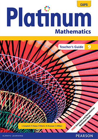 Platinum Mathematics Grade 9 Teacher's Guide (CAPS)